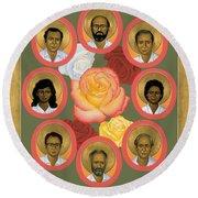 Martyrs Of The Jesuit University - Rlmju Round Beach Towel
