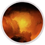 Marvelous Clouds Round Beach Towel