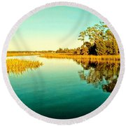 Marvelous Marsh Round Beach Towel