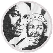 Marvin Gaye Tribute Round Beach Towel