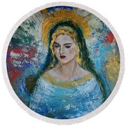 Mary Round Beach Towel
