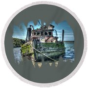 Mary D. Hume Shipwreak Round Beach Towel by Thom Zehrfeld
