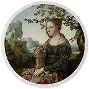 Mary Magdalene, 1530 Round Beach Towel