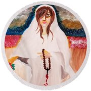 Mary Magdalene  Round Beach Towel