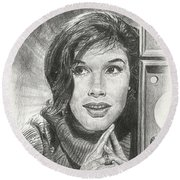 Mary Tyler Moore Round Beach Towel
