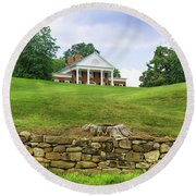 Round Beach Towel featuring the photograph Marye's House by John M Bailey