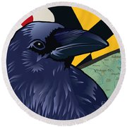 Maryland Citizen Raven Round Beach Towel