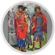 Masai Women Round Beach Towel