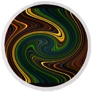 Masculine Waves Round Beach Towel