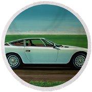 Maserati Khamsin 1974 Painting Round Beach Towel