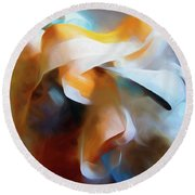 Masking Tape And Paint Composition Round Beach Towel