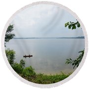 Mason Neck Virginia Round Beach Towel
