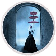 Round Beach Towel featuring the photograph Masquerade by Juli Scalzi