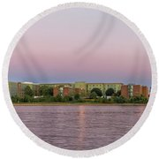 Massachusetts Maritime Academy At Sunset Round Beach Towel