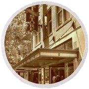 Round Beach Towel featuring the photograph Mast General Store by Skip Willits