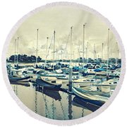 Mast Reflection Round Beach Towel