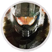 Master Chief Round Beach Towel
