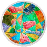 Mat Weaver Round Beach Towel