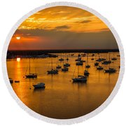 Matanzas Harbor Round Beach Towel