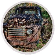 Mater Two From Car Story Round Beach Towel