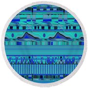 Material Things - Colors Of The Sea Round Beach Towel