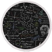 Maths Formula Round Beach Towel