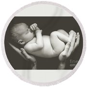 Matte Baby Art Round Beach Towel
