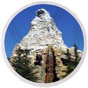 Matterhorn Disneyland Round Beach Towel by Mariola Bitner