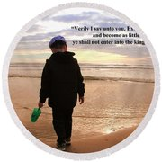 Round Beach Towel featuring the photograph Matthew Eighteen Three by Aaron Berg