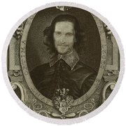 Matthew Mcconaughey   Round Beach Towel by Serge Averbukh
