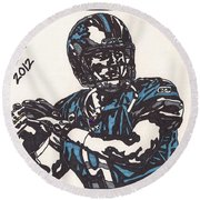 Matthew Stafford Round Beach Towel by Jeremiah Colley
