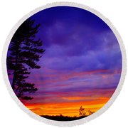 Maudslay Sunset 2 Round Beach Towel