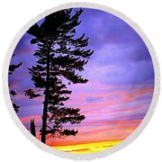 Maudslay Sunset Round Beach Towel