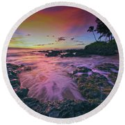 Maui Beauty Round Beach Towel by James Roemmling