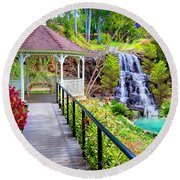 Maui Botanical Garden Round Beach Towel by Michael Rucker