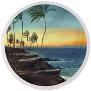 Maui Round Beach Towel