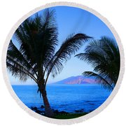Maui Coastline Round Beach Towel by Michael Rucker