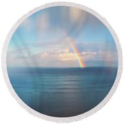 Maui Delight Round Beach Towel by Kathy Bassett