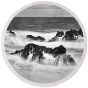 Maui In Turmoil Round Beach Towel
