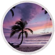 Maui Moments Round Beach Towel by James Roemmling