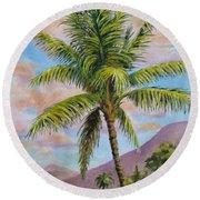 Maui Palm Round Beach Towel
