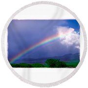 Maui Rainbow Round Beach Towel