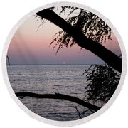 Maui Sunset Round Beach Towel