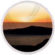 Mauna Kea Sunset Round Beach Towel