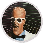 Max Headroom Round Beach Towel