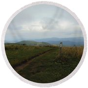 Max Patch Round Beach Towel