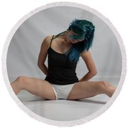 Maxina Stretching Out Round Beach Towel