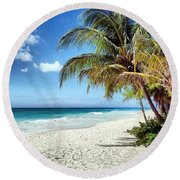 Maxwell Beach Barbados Round Beach Towel