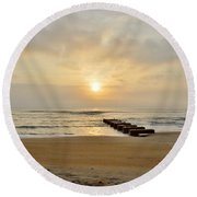 May 13 Obx Sunrise Round Beach Towel