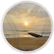 May 13 Obx Sunrise Round Beach Towel
